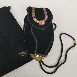 Vintage Magie Noire Lancome Beaded Evening Bag